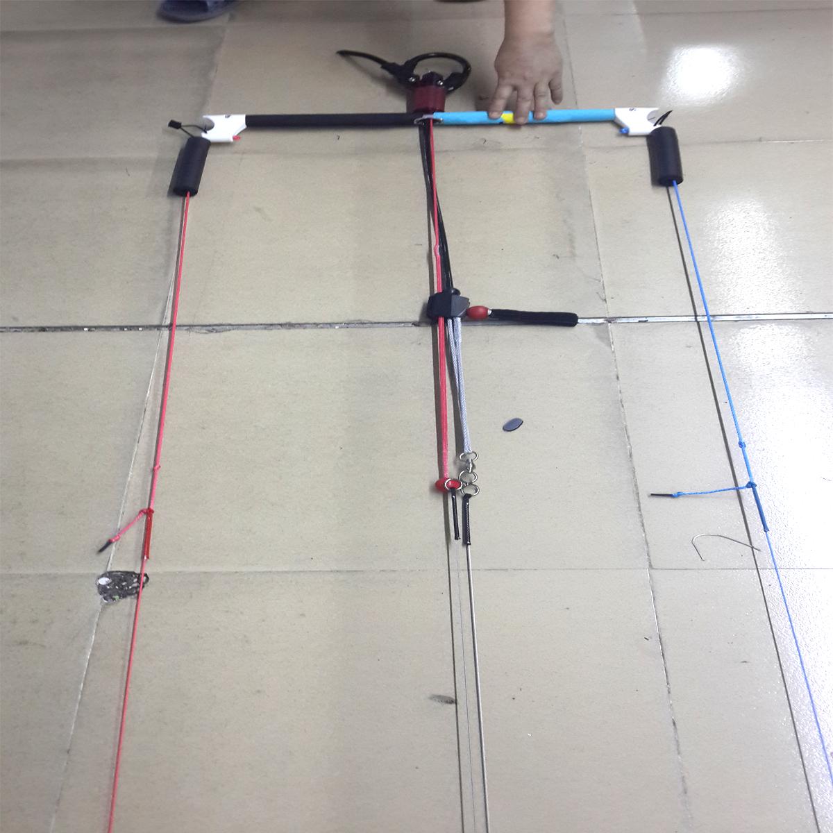 Kiteboarding kite bar 5 line bar