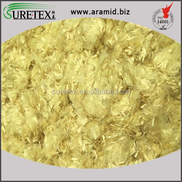 China Supplier 12mm Chopped PPTA Para Aramid Short Fiber