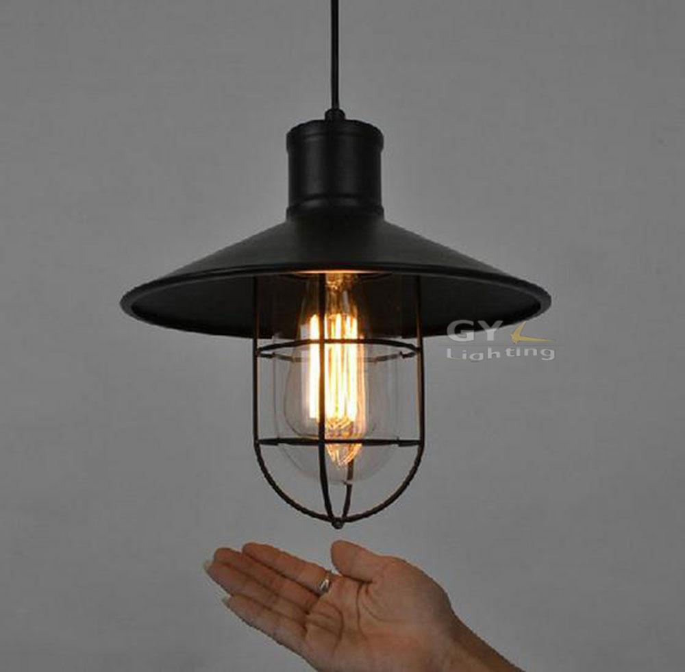 buy art deco vintage industrial antique metal cage pendant light factory wire. Black Bedroom Furniture Sets. Home Design Ideas