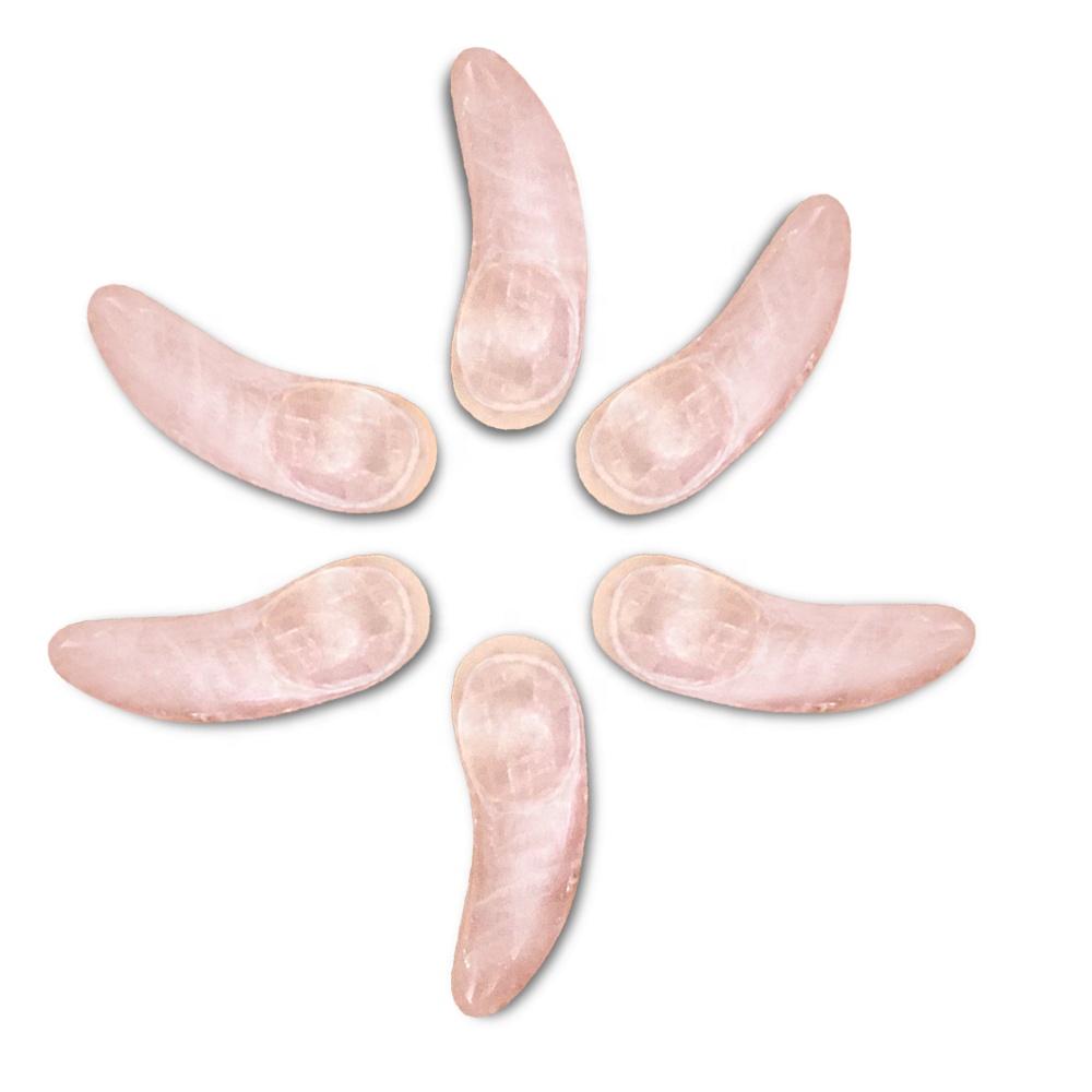 Натуральный розовый кварц Косметическая ложка крем для глаз аппликатор гуаша соскабливание для глаз