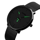 Men Clock Skmei 9185 Classic Men Luxury Brand Watches Black Stainless Steel Minimalist Male Analog Clock Waterproof Quartz Men Wrist Watch