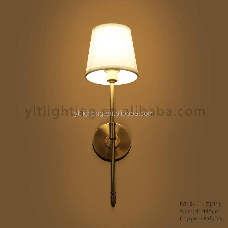 Copper and Fabrics Wall Lamp Hotel Home Living Decorative LED Wall Lamp Modern Wandlamp Customizd Lightings Loft Vintage Lamp