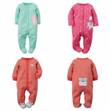 Newborn Baby Clothes Carters Cotton Baby Rompers One Pieces Baby Romper Infant Animal Model Boys Girls Long Sleeve Jumpsuits