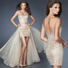 Mermaid Sexy prom dress Party Evening Dress split v neck prom dresses bling formal dresses sequin prom gown vestidos de novia