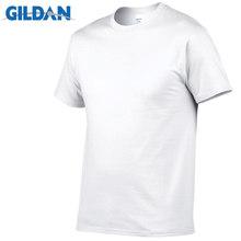 Футболка GILDAN Мужская, черная и белая, 100% хлопок, летняя футболка для скейтборда, футболка для мальчиков, европейский размер(Китай)