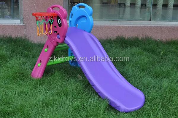 Панда мини слайд, дети вверх вниз слайд вместе с баскетбольное кольцо