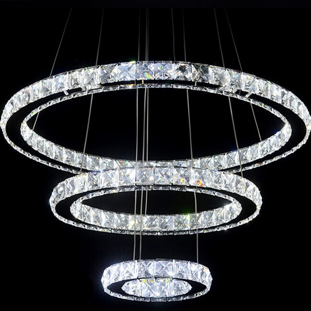 Led 3 Ring Chandelier: Aliexpress.com : Buy 3 Rings Crystal LED Chandelier Light
