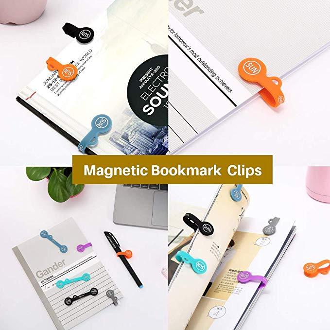 Silicone pvc bookmark paper clips