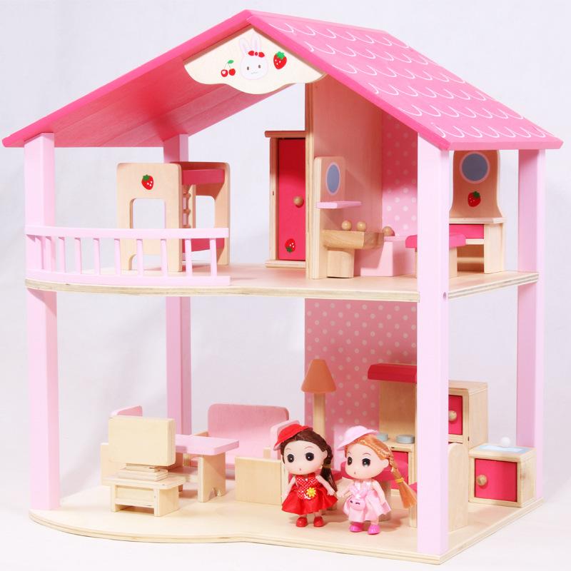 КТ бренд горячего надувательства Популярные DIY Миниатюрный Кукольный дом деревянные игрушки для коллекции
