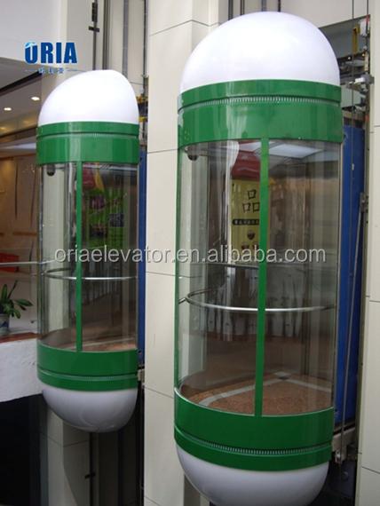 Панорамный лифт с нагрузкой 1000 кг и подъемник с машинной камерой