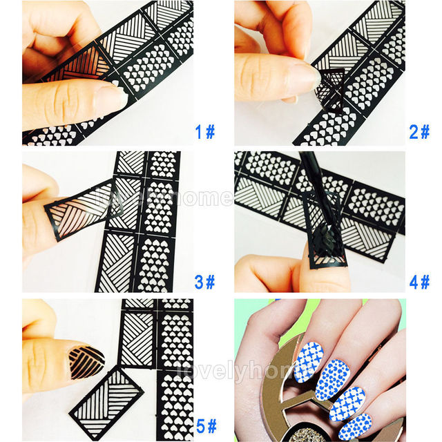 HOT SALE Easy Stamping Tool Nail Art Template Stickers Stamp Stencil Guide Reusable Tips 24 Style
