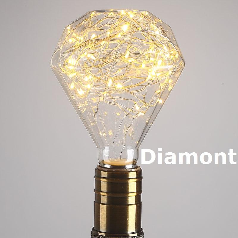 3D Светодиодная лампа Эдисона ретро красочные E27 AC110V 220V домашний фестиваль стеклянная лампада теплые белые рождественские украшения rgb худо...(Китай)