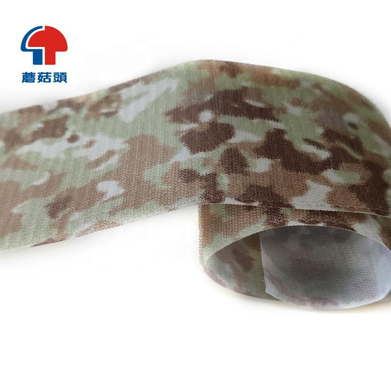 Custom 100% nylon military camouflage hook and loop tape fabric for uniform army