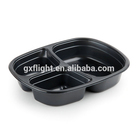 Disposable 2 Compartment Dual Ovenable CPET Dish For Food Packaging