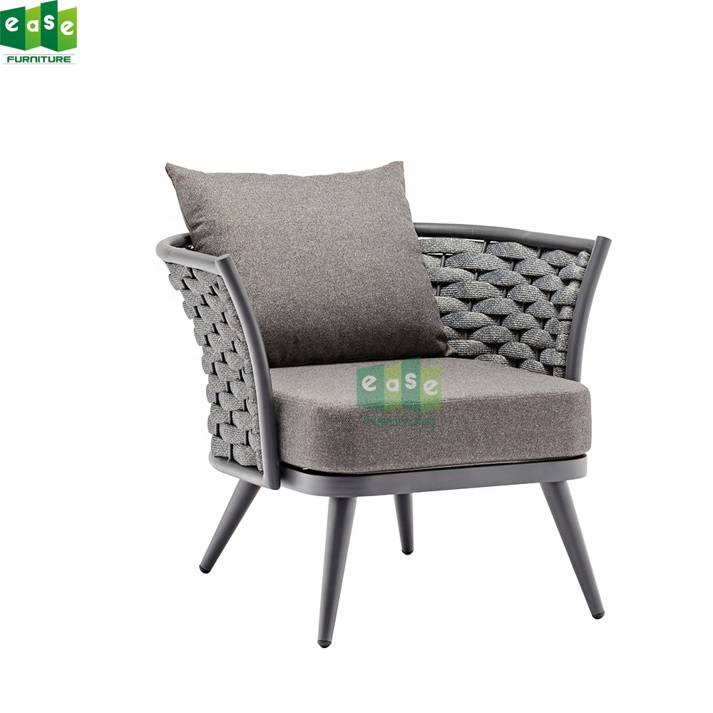Garden Sofa One seat wicker rope Design Club Chair for outdoor ( E1141)
