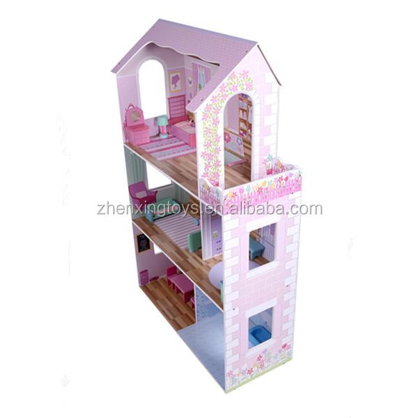 Лидер продаж в США, трехслойный детский деревянный игрушечный домик, игровой набор