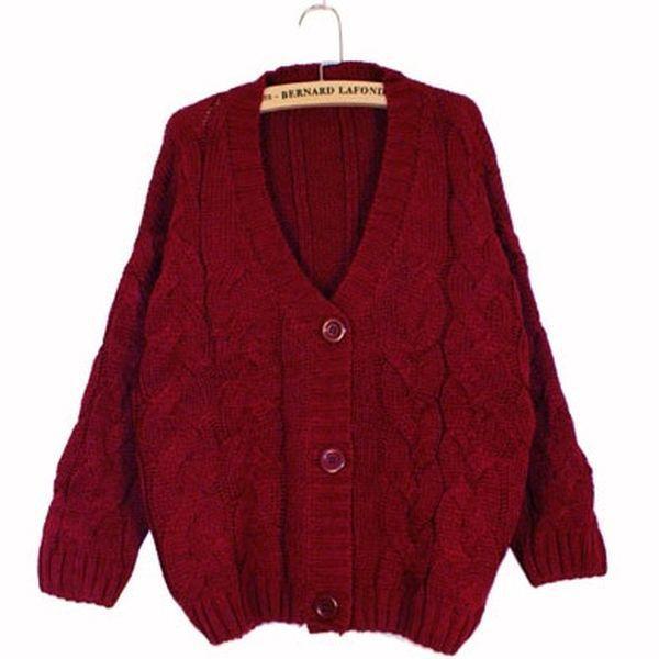 2014 New Hot Sale Warm Sweater Women Cardigans Long Sleeve ...