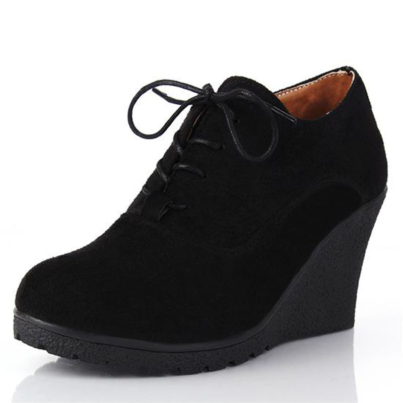 New 2016 Women Platform Wedges Fashion High Heels Lacing ...