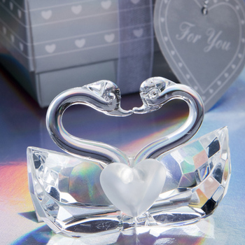 Love Crystal Swan for Wedding Return Gifts