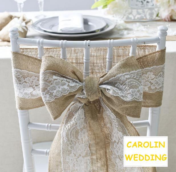 achetez en gros toile de jute ceintures de chaise de mariage en ligne des grossistes toile de. Black Bedroom Furniture Sets. Home Design Ideas