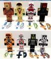 24pcs lot Juguetes Minecraft star wars block toys figure lot 2015 New minecraft series 3 sword