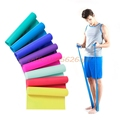 1PC 1 5m Elastic Yoga Pilates Rubber Stretch Resistance Exercises Fitness Band Resistance Bands Expanders H030