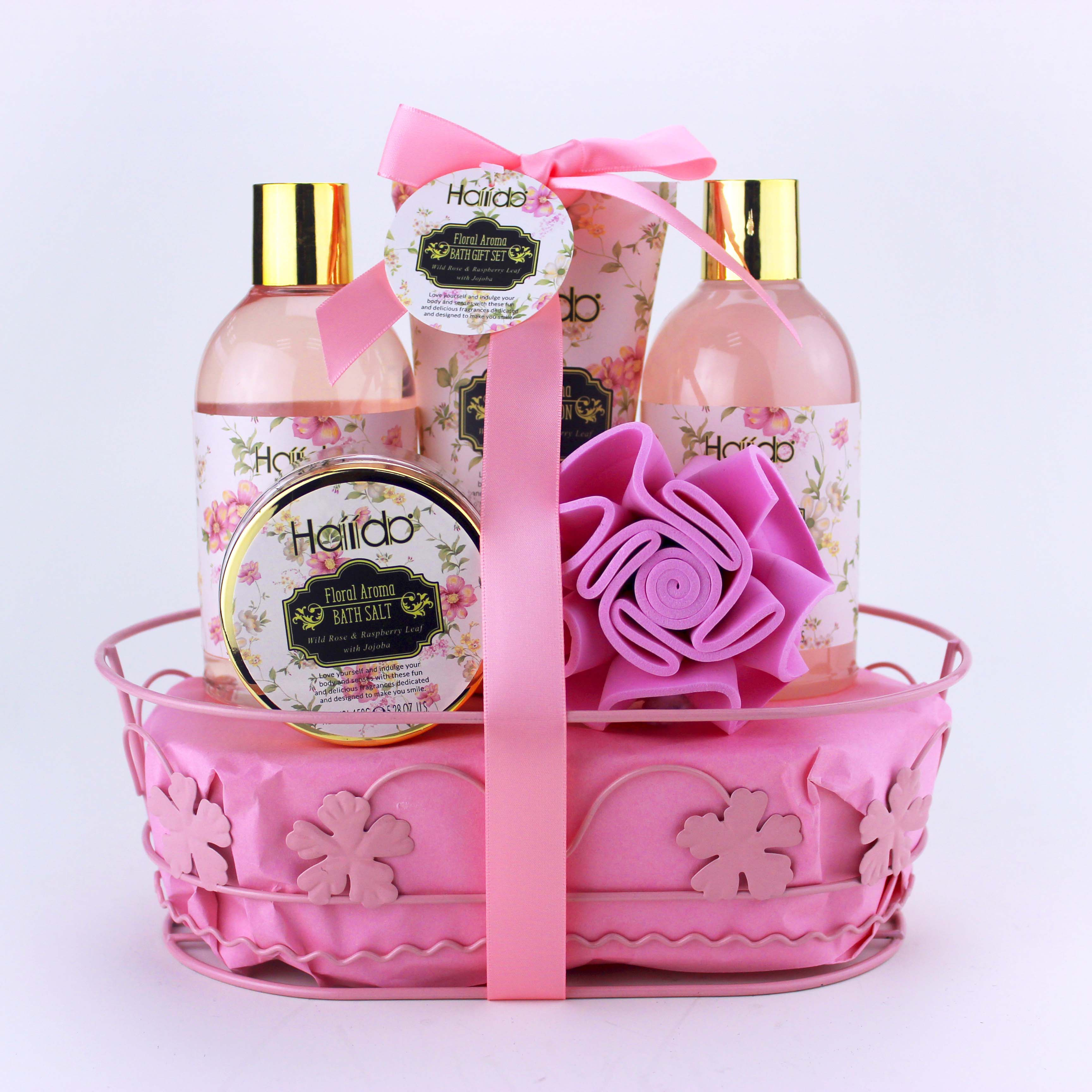 Festivals Women Promotion Valentine Roes Bath Spa Knit Gift Set OEM