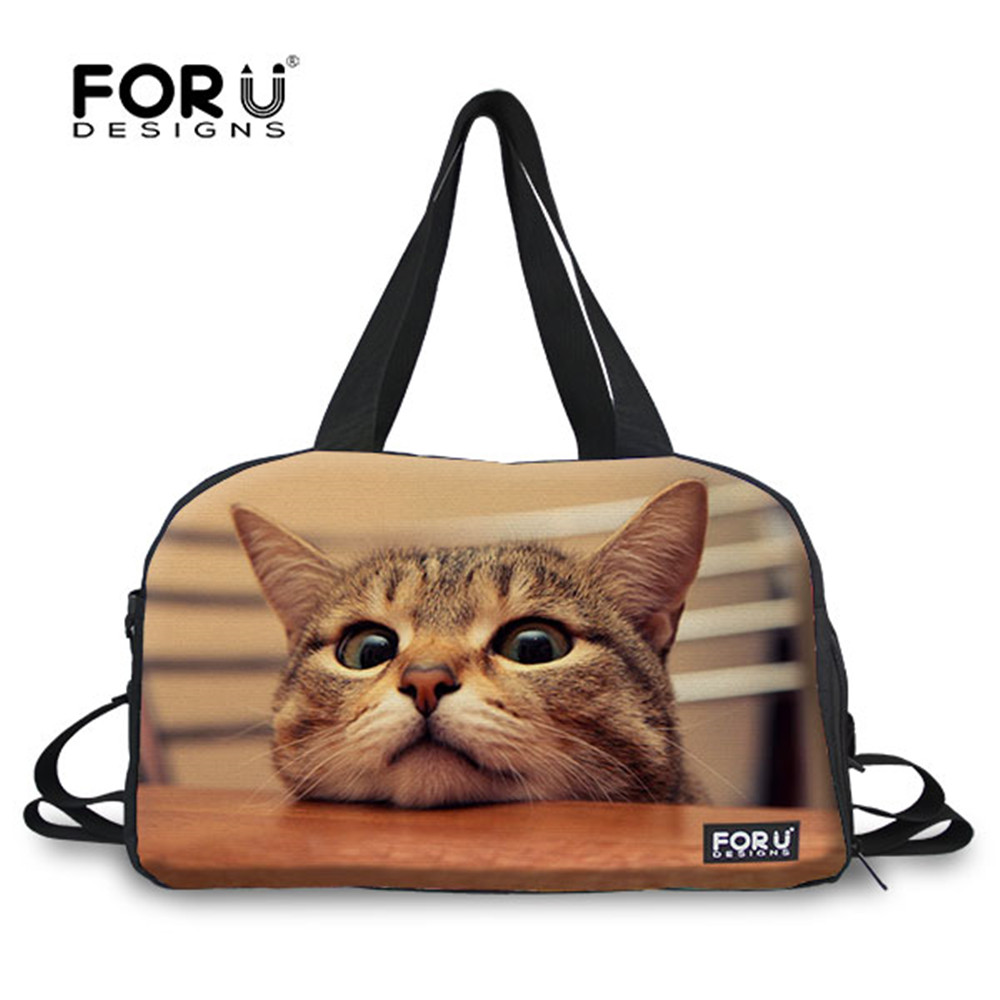 Us 29 89 35 Off Forudesigns Animals Cats Dogs Pugs Cute Women Yoga Gym Bags Mat For Sport Outdoor Large Tote Travel Shoulder In