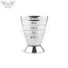 Cocktail 2.5oz 5Tbsp 75ml Stainless Steel Magic Cocktail Jigger Multi Level Measuring Shot Glass