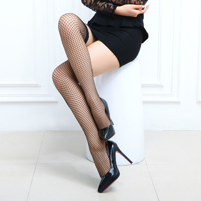 9f2429fab High Stockings1pair Fashion Sexy lingerie Ultrathin Top Sheer Silk Girls  Fishnet Thigh like Leggings