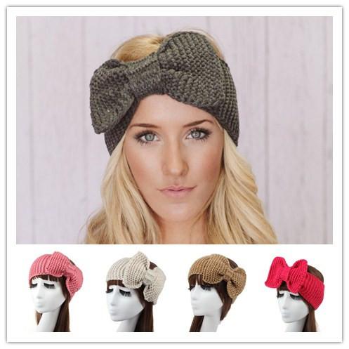 acheter femmes hiver laine tress crochet lastique bandeaux bandeau headwrap. Black Bedroom Furniture Sets. Home Design Ideas