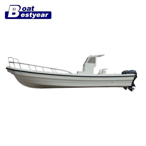 2015 new model 26D fiberglass luxury Panga fishing boat for sale