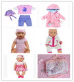 Free Shipping 4set Backpack Doll Clothes coat Wear fit 43cm Baby Born zapf Children best Birthday