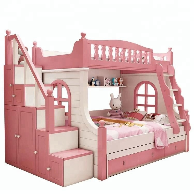 Mdf Bunk Bed New Design Cheap Double Bed Modern Kids Bedroom