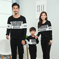 Cotton Mother Son Outfits Long Sleeve Autumn Mother Father Baby Clothes Sportswear For Ladies And Kids