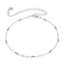 Модные цилиндрические круглые браслеты для женщин, браслет из розового золота с цепочкой на лодыжке, ювелирные изделия для девушек, подарок...(Китай)