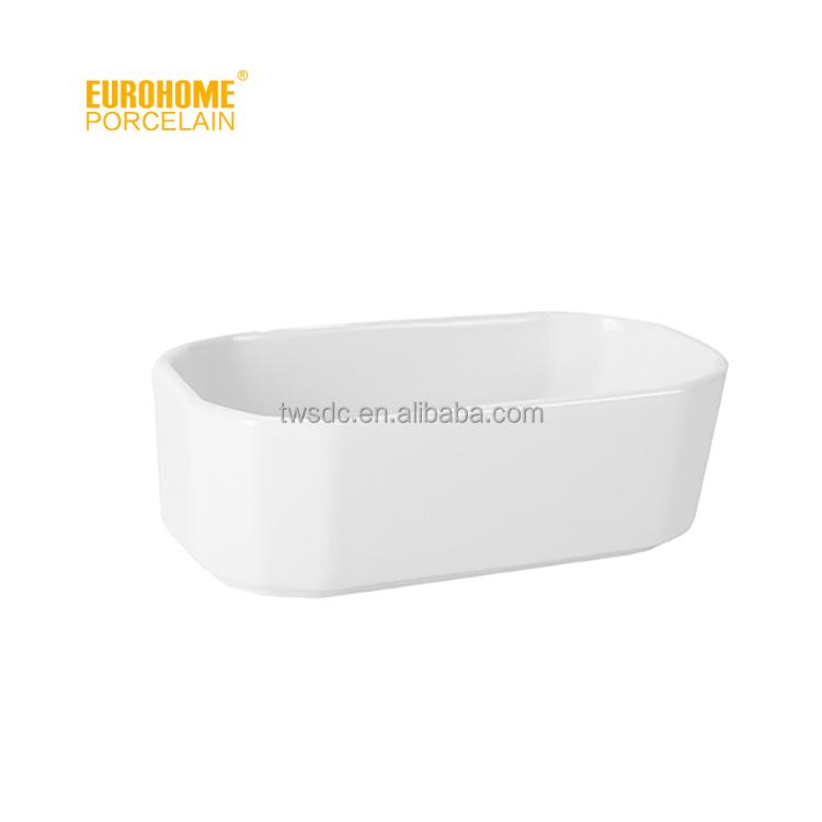 Eurohome ceramic white porcelain 5 inch sugar packet holder (tea bag holder) T065