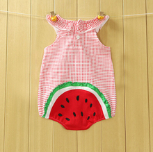 baby rompers unisex baby clothing summer cotton boys girls baby triangle Rompers Fruit bear Teddy newborn