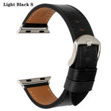 Аксессуары для часов MAIKES, ремешок из натуральной кожи для Apple Watch, 4 ремешка, 44 мм, 40 мм, 42 мм, 38 мм, iWatch 4-1(Китай)