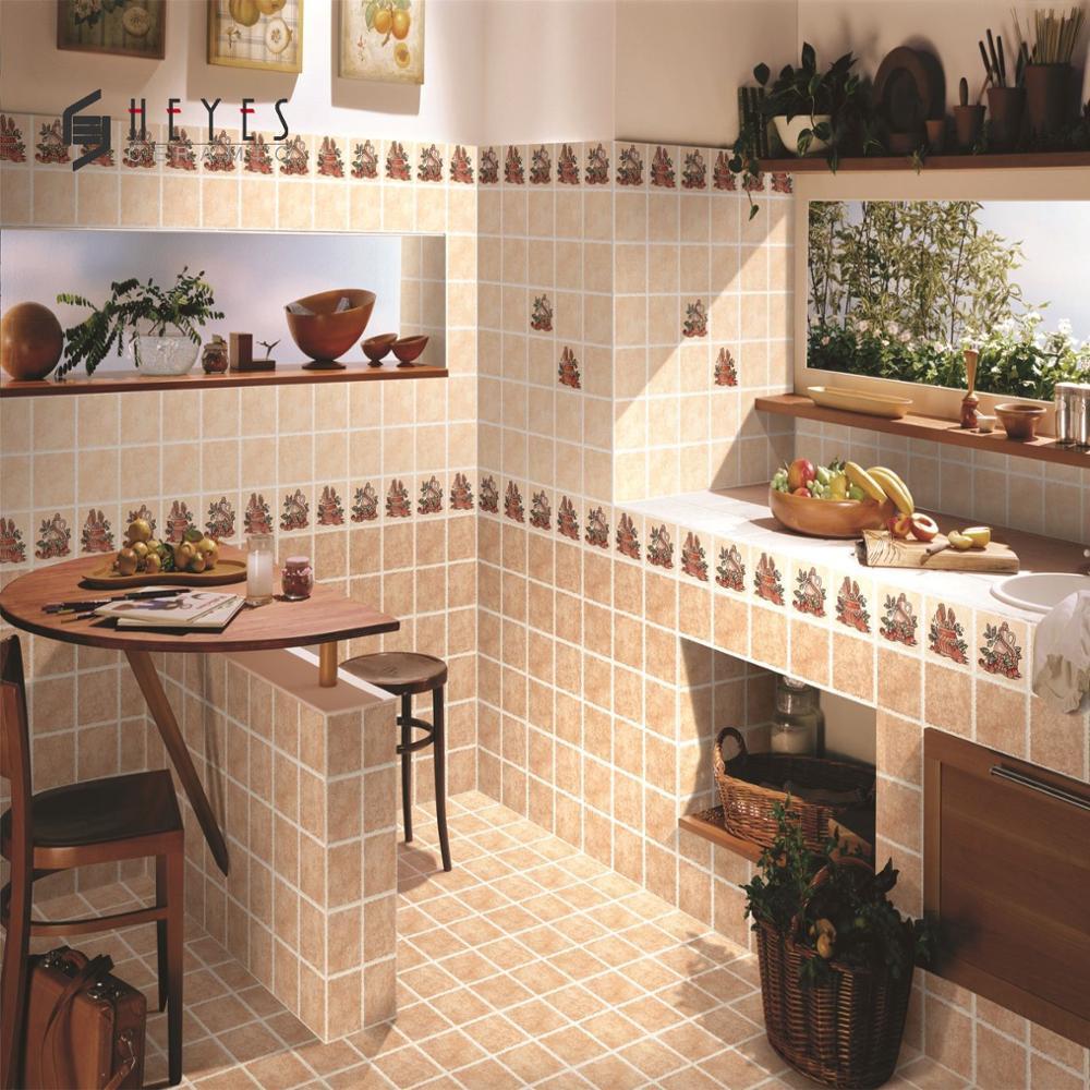 Beige Flower Design Kitchen Floor Ceramic Bathroom Wall Tiles Buy Tile Product On Alibaba Com
