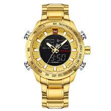 Новые роскошные Брендовые мужские спортивные наручные часы, мужские военные водонепроницаемые часы, мужские полностью стальные светодиод...(China)