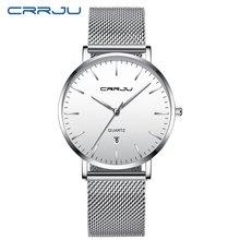 CRRJU часы мужские водонепроницаемые Модные из нержавеющей стали Роскошные бизнес часы календарь кварцевые наручные золотые часы relogio masculino(Китай)