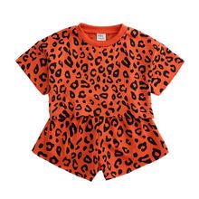 Летняя одежда для девочек, полосатая одежда для маленьких девочек, топ, детская одежда, костюм, хлопковая футболка с коротким рукавом + шорты...(Китай)