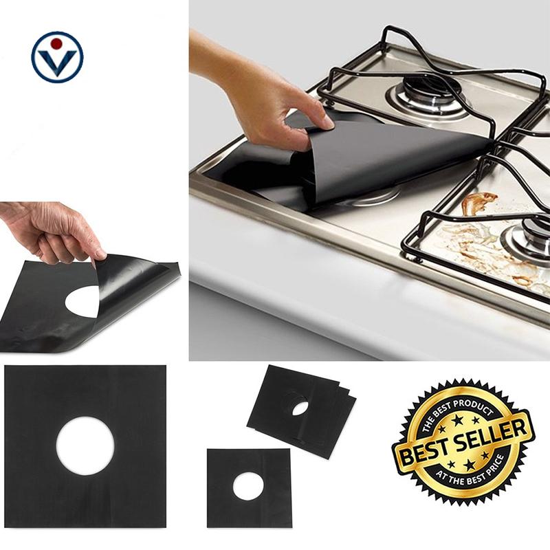Heat Resistant Non Stick Ceramic Stovetop Protector Gas Stove Burner Covers