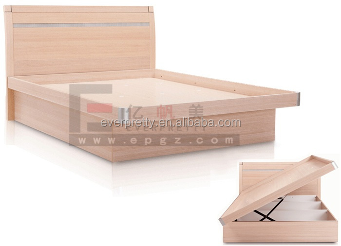 Wooden furniture beds, queen size hotel bedroom bed