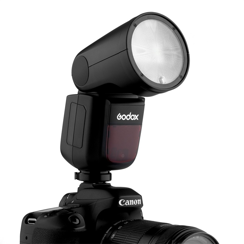Godox V1-N Round Head Flash Compatible for Nikon Camers,1//8000 HSS 76Ws 2.4G TTL On-Camera Flash Speedlight with 2600mAh Li-ion Battery /& Charger