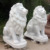 Natural marble statue of outdoor large marble lion stone statue