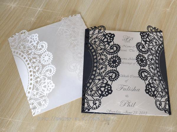 Design Paper White Black Laser Cut Wedding Unique Customized