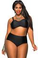 Red Black Blue Plus Size High Waist Bikini Swimsuit 2XL 5XL Halter Padded Push Up Swimwear