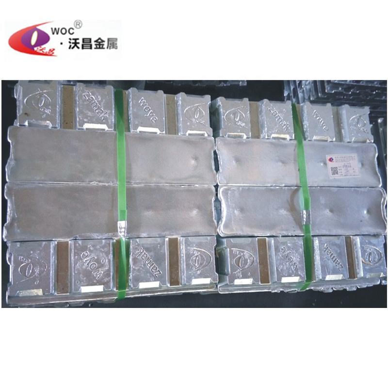 China manufacturer zinc alloy zamak 3 ingots for making zinc alloy die casting